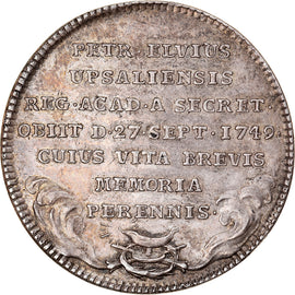 Sweden, Medal, Royal Academy of Sciences, Pehr Elvius, 1749, AU(50-53), Silver