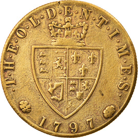 United Kingdom, Token, Georges IIII, History, 1797, EF(40-45), Brass