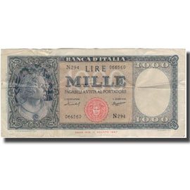 Banknote, Italy, 1000 Lire, 1947, KM:83, EF(40-45)
