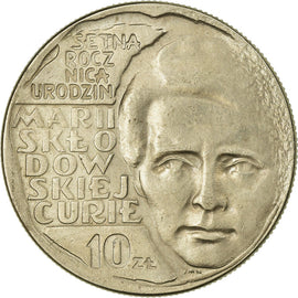 Coin, Poland, 10 Zlotych, 1967, Warsaw, EF(40-45), Copper-nickel, KM:59