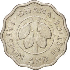 GHANA, 2-1/2 Pesewas, 1967, KM #14, MS(63), Copper-Nickel, 19.5