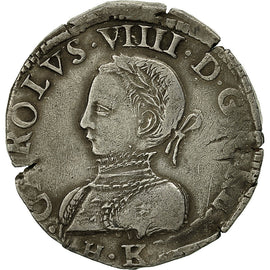 Coin, France, Charles IX, Charles IX, Teston, 1563, Bordeaux, VF(30-35), Silver