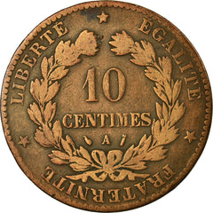 Coin, France, Cérès, 10 Centimes, 1888, Paris, F(12-15), Bronze, KM:815.1