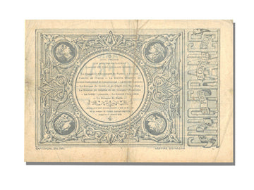 Banknote, 5 Francs, 1871, France, EF(40-45)