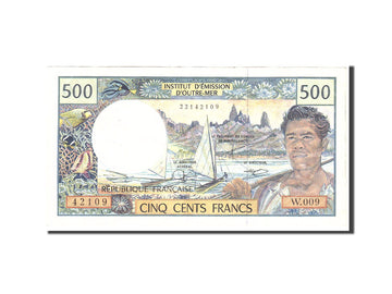 French Pacific Territories, 500 Francs, 1992, KM:1b, Undated, EF(40-45)