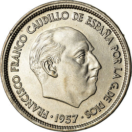 Coin, Spain, Caudillo and regent, 25 Pesetas, 1969, VF(30-35), Copper-nickel
