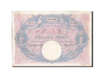Banknote, France, 50 Francs, 50 F 1889-1927 ''Bleu et Rose'', 1903, 1903-12-10