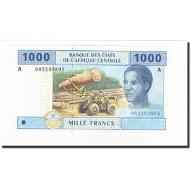 Banknote, Central African States, 1000 Francs, 2002, KM:407A, UNC(65-70)