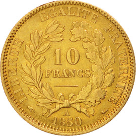 Coin, France, Cérès, 10 Francs, 1850, Paris, EF(40-45), Gold, KM:770