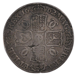 Coin, Great Britain, Charles II, Crown, 1662, VF(20-25), Silver, KM:417.1