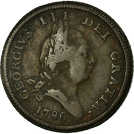 Coin, Isle of Man, 1/2 Penny, 1786, EF(40-45), Copper, KM:8