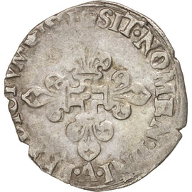 Coin, France, Demi Gros de Nesle, 1551, Paris, VF(30-35), Billon, Duplessy:995