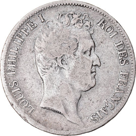 Coin, France, Louis-Philippe, 5 Francs, 1831, Bordeaux, HYBRIDE, F(12-15)