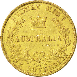AUSTRALIA, Sovereign, 1867, Sydney, KM #4, EF(40-45), Gold, 7.98