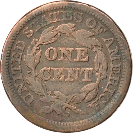 UNITED STATES, Braided Hair Cent, Cent, 1845, U.S. Mint, KM #67, VF(20-25),...