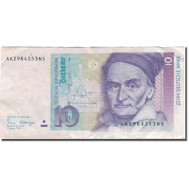 Banknote, GERMANY - FEDERAL REPUBLIC, 10 Deutsche Mark, 1989, 1989-01-02