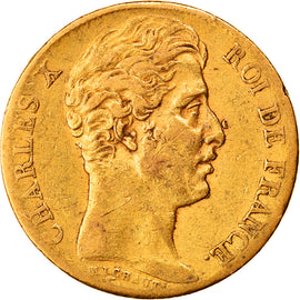 Coin, France, Charles X, 20 Francs, 1825, Paris, EF(40-45), Gold, KM:726.1