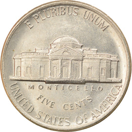 Coin, United States, Jefferson Nickel, 5 Cents, 1984, U.S. Mint, Denver