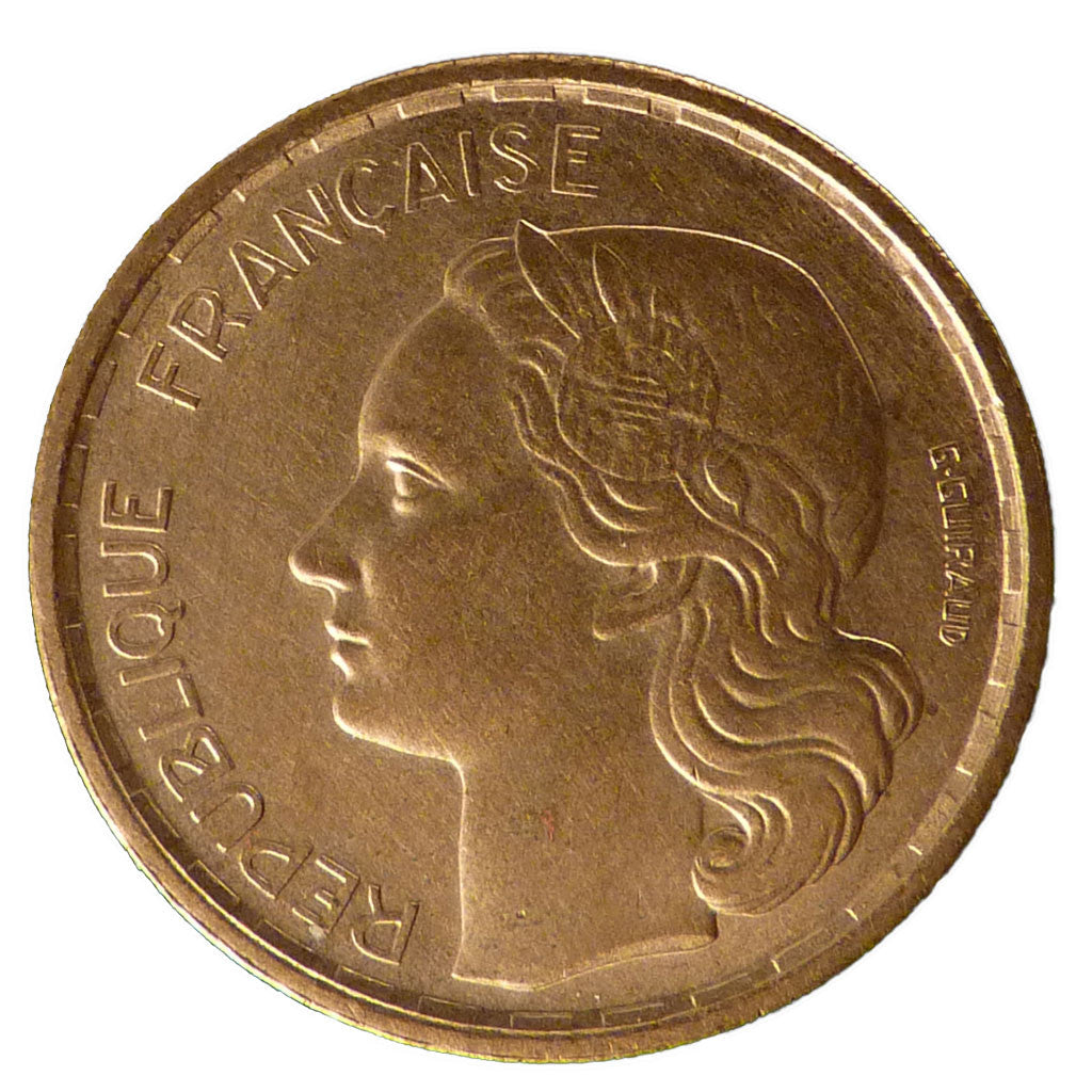 FRANCE, Guiraud, 20 Francs, 1950, Paris, KM #917.1, AU(55-58), Aluminum-Bronze,.