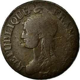 Coin, France, 5 Centimes, 1800, Paris, F(12-15), Bronze, Gadoury:126a