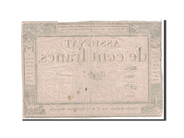Banknote, France, 100 Francs, 1795, 1795-01-07, EF(40-45), KM:A78, Lafaurie:173