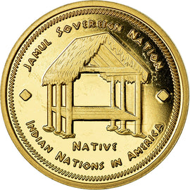 Coin, United States, Dollar, 2019, U.S. Mint, Tribu Séminole, MS(63), Brass