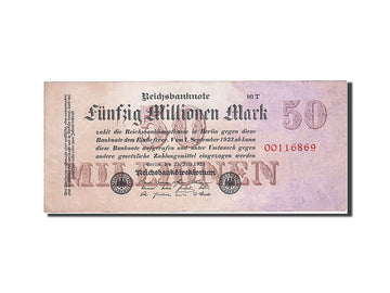 Banknote, Germany, 50 Millionen Mark, 1923, 1923-07-25, KM:98a, AU(50-53)