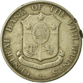 Coin, Philippines, 10 Centavos, 1960, VF(30-35), Copper-Nickel-Zinc, KM:188