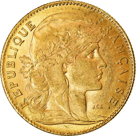 Coin, France, Marianne, 10 Francs, 1907, Paris, AU(55-58), Gold, KM:846