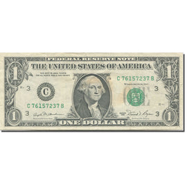 Banknote, United States, One Dollar, 1981, Undated (1981), KM:3502, EF(40-45)