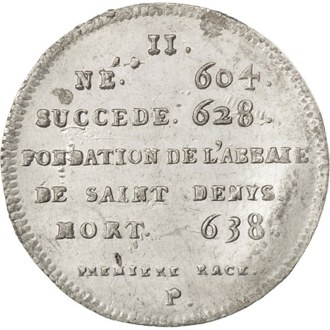 FRANCE, History, Dagobert I, Medal, AU(50-53), Tin, 33, 8.25