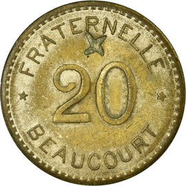 Coin, France, Fraternelle, Beaucourt, 20 Centimes, EF(40-45), Nickel plated