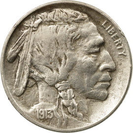Coin, United States, Buffalo Nickel, 5 Cents, 1913, U.S. Mint, Philadelphia