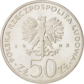 POLAND, 50 Zlotych, 1983, Warsaw, KM #146, AU(55-58), Copper-Nickel, 30.5, 11.56