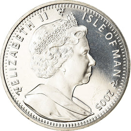 Coin, Isle of Man, Elizabeth II, Crown, 2005, Pobjoy Mint, White rose of