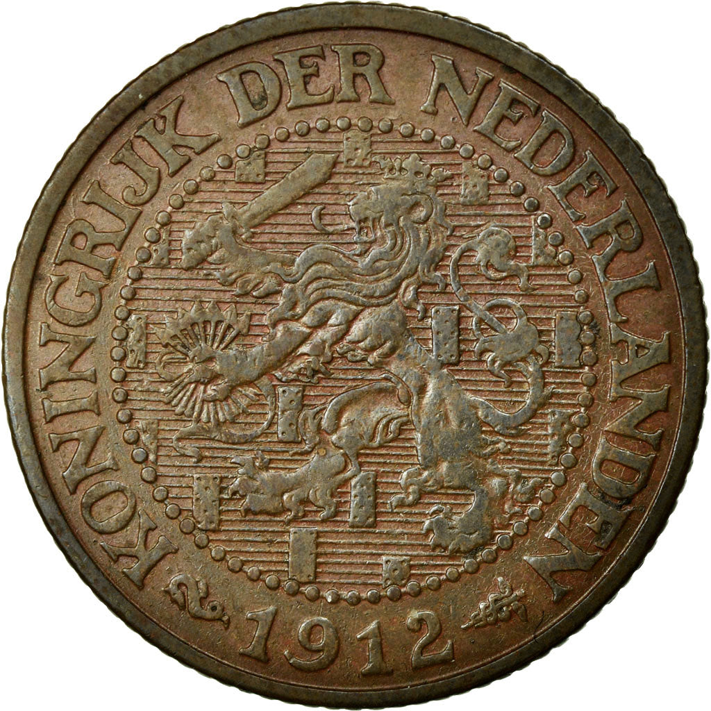 Coin, Netherlands, Wilhelmina I, 2-1/2 Cent, 1912, AU(55-58), Bronze, KM:150