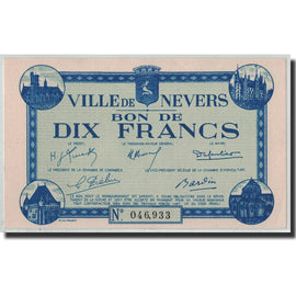 10 Francs, 1940, France, UNC(63), Nevers