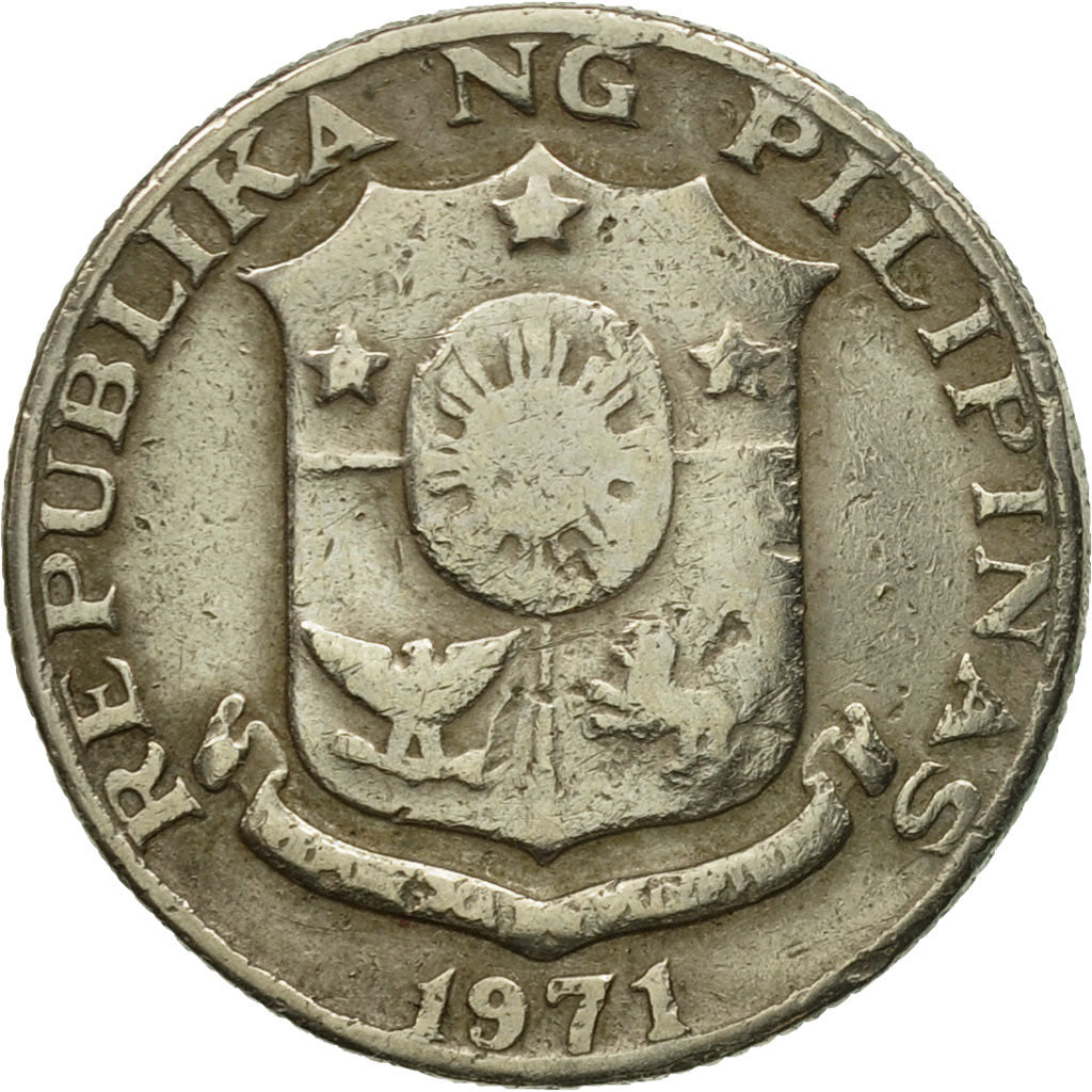 Coin, Philippines, 25 Sentimos, 1971, VF(30-35), Copper-Nickel-Zinc, KM:199