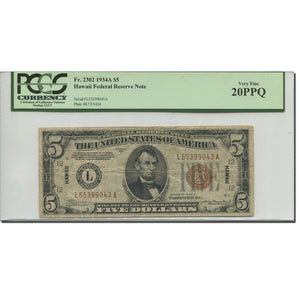 Banknote, United States, Five Dollars, 1934, 1934, KM:1961, graded, PCGS