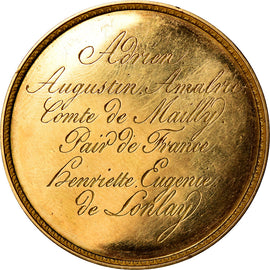 France, Medal, Mariage Comte de Mailly, 1816, AU(55-58), Gold