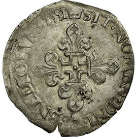Coin, France, Demi Gros de Nesle, 1551, Paris, VF(30-35), Silver, Ciani:1303