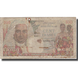 Banknote, French Equatorial Africa, 100 Francs, Undated (1947), KM:24, F(12-15)