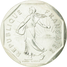 Coin, France, 2 Francs, 1981, Paris, Piéfort, MS(65-70), Silver, KM:P704