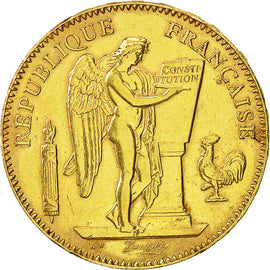 Coin, France, Génie, 50 Francs, 1896, Paris, AU(50-53), Gold, KM:831