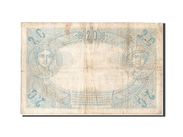 France, 20 Francs, 20 F 1874-1905 ''Noir'', 1874, KM:61a, 1874-10-12, VF(20-2...