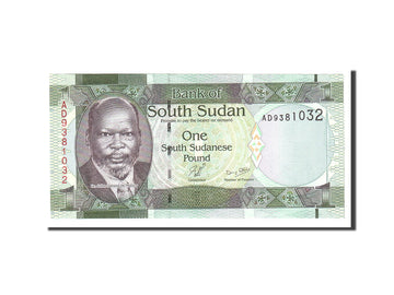 South Sudan, 1 Pound, 2011, Undated, KM:5, UNC(65-70)