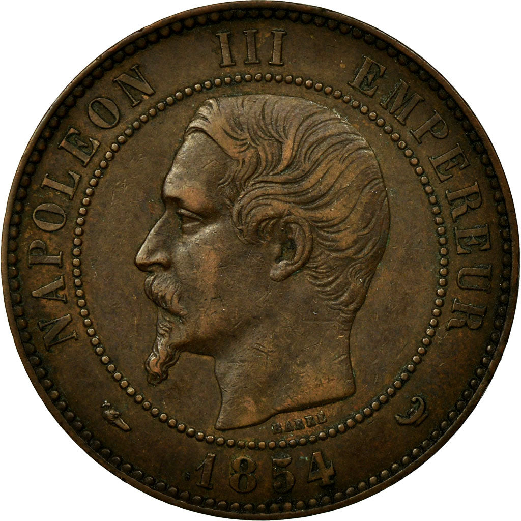 Coin, France, 10 Centimes, 1854, Lille, EF(40-45), Bronze, KM:M25, Gadoury:251