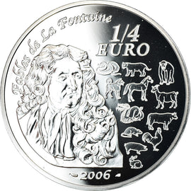 France, 1/4 Euro, 2006, BE, MS(65-70), Silver, KM:1415