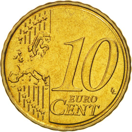 Malta, 10 Euro Cent, 2008, MS(64), Brass, KM:128