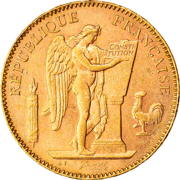 Coin, France, Génie, 50 Francs, 1896, Paris, AU(55-58), Gold, KM:831
